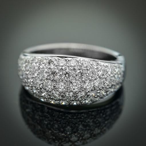 Pave' Diamond Dome Ring 1