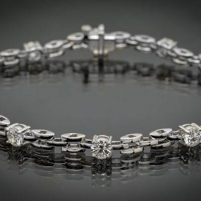 Diamond Panther Link Bracelet