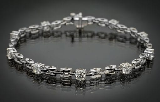 Diamond Panther Link Bracelet