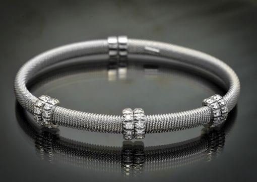 Woven Diamond Cuff Bracelet