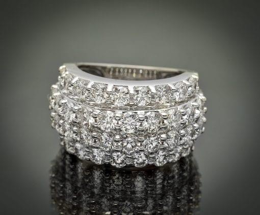 Four Row Diamond Wedding Ring