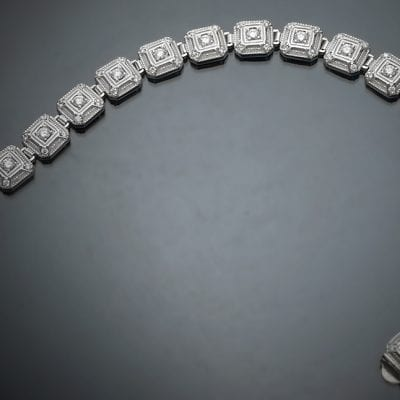 Vintage Inspired Diamond Bracelet