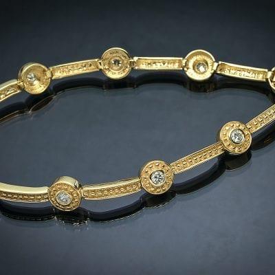 Diamond Byzantine Bracelet