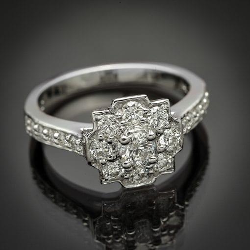 Diamond Halo Ring 1