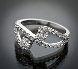 Diamond By-Pass Ring