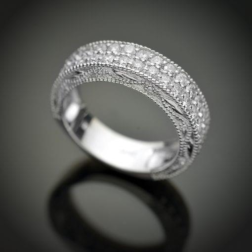 Double Row Diamond Wedding Ring