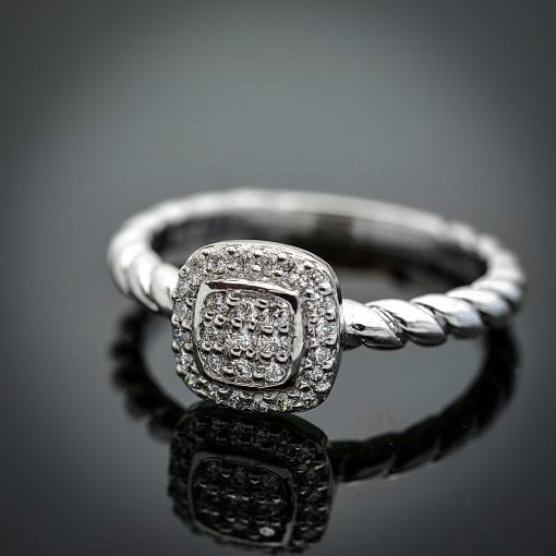 Diamond Halo Cluster Ring 1