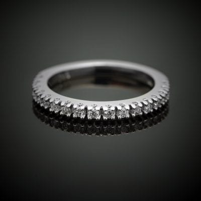 Fishtail Diamond Wedding Ring