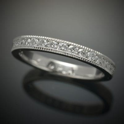 Channel Set Diamond Wedding Ring