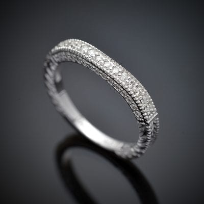 Flush Fit Diamond Wedding Ring
