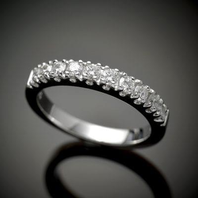 Fishtail Diamond Wedding Ring
