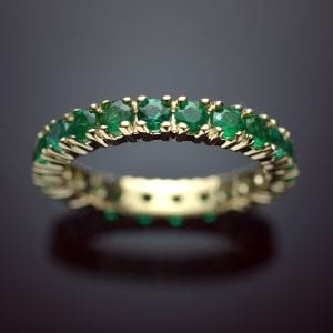 Brilliant Emerald Eternity Ring