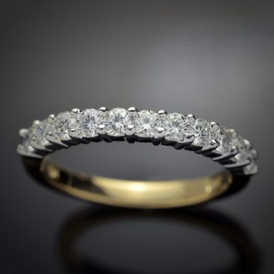 Eleven Diamond Wedding Ring