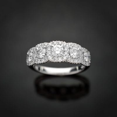 Multi Halo Diamond Ring