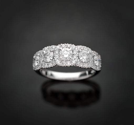 Multi Halo Diamond Ring
