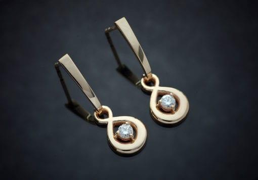 Custom Diamond Drop Earrings 1