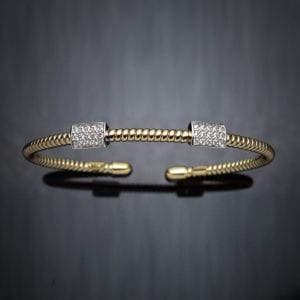 Coiled Diamond Cuff Bracelet
