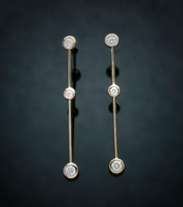 Diamond Icicle Earrings