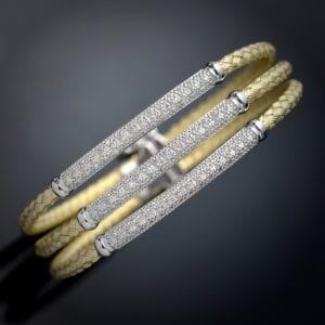 Woven Gold Diamond Bracelet