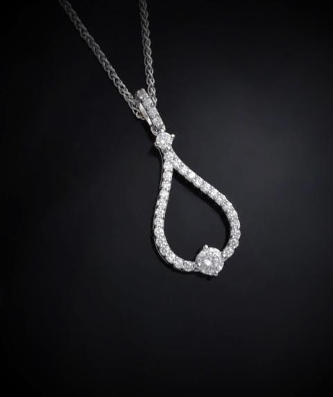 Diamond Tear Drop Pendant