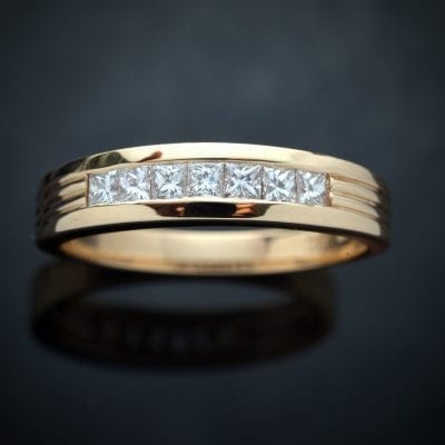 Square Diamond Wedding Ring