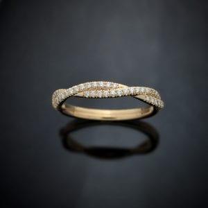 Diamond Weave Wedding Ring