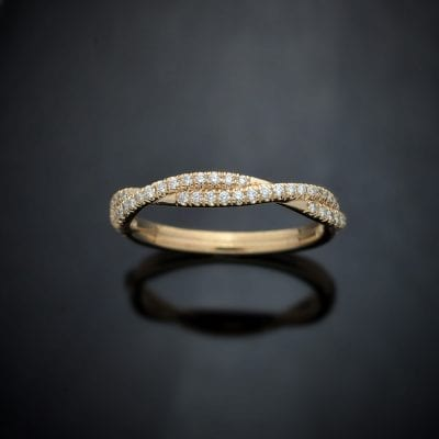 Diamond Weave Wedding Ring