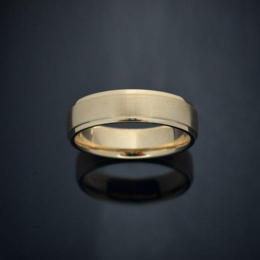 Custom Black Rhodium Finish 14K Gold Wedding Ring (6mm) 1