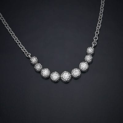 Diamond Crescent Pendant