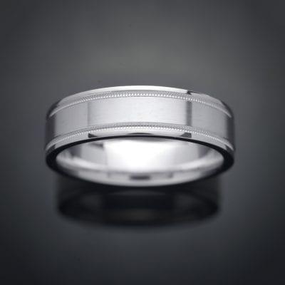 Milgrain 14K Gold Wedding Ring