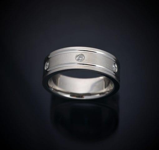 Gentleman's Custom Made Platinum Diamond Wedding Band 1