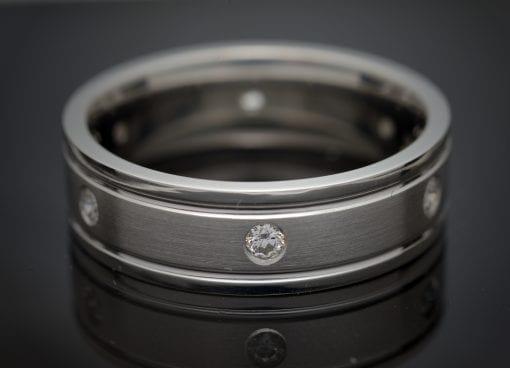Gentleman's Custom Made Platinum Diamond Wedding Band 2