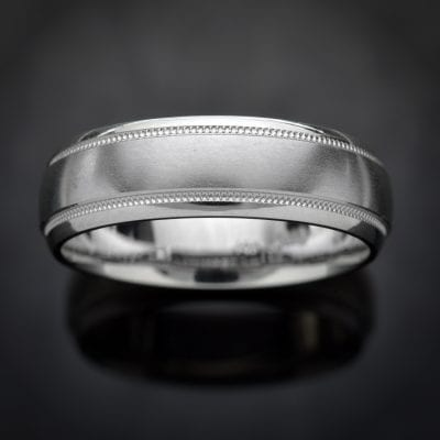 Milgrain Platinum Wedding Ring