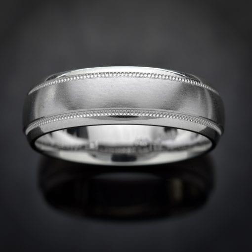 Milgrain Platinum Wedding Ring