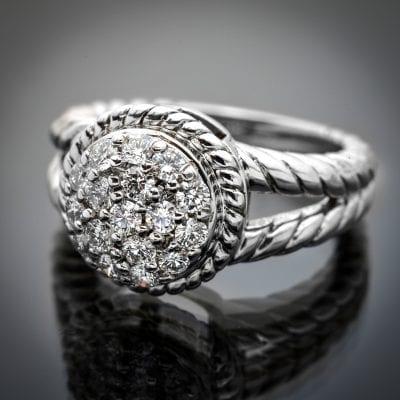 Braided Design Diamond Ring