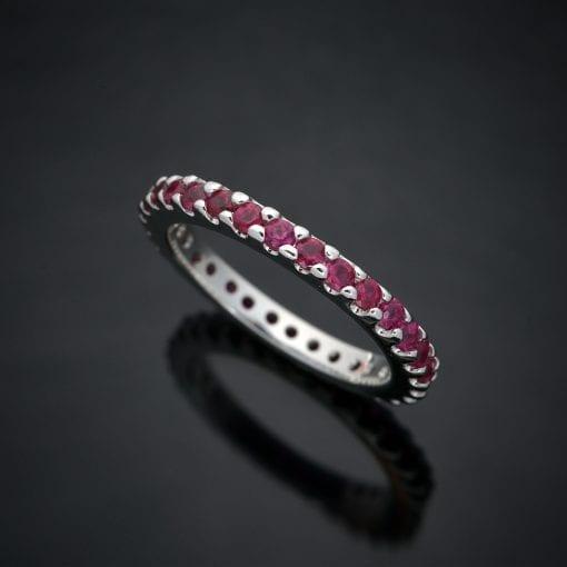 Brilliant Cut Ruby Eternity Ring