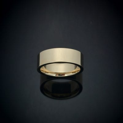 Square Edge 14K Gold Wedding Ring